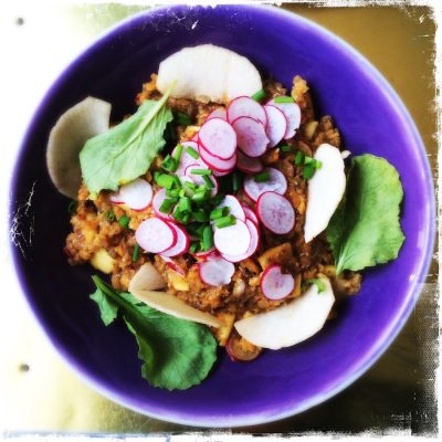 Lentilles corail en salade les Popotes