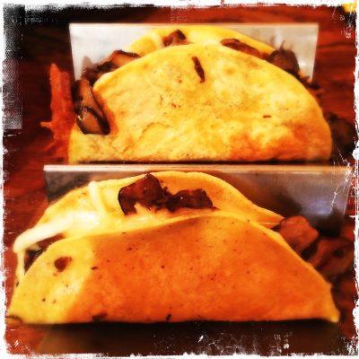 Quesadillas au fromage et champignons Luz Verde