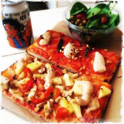Pizzas vegan Hawaïenne et Tomate Hank