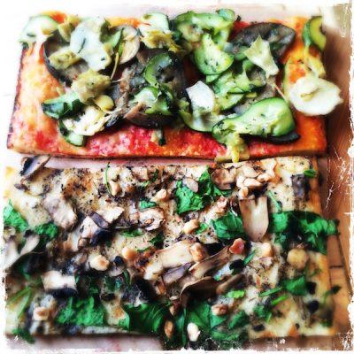 Pizzas vegan Truffe et Antipasti Hank
