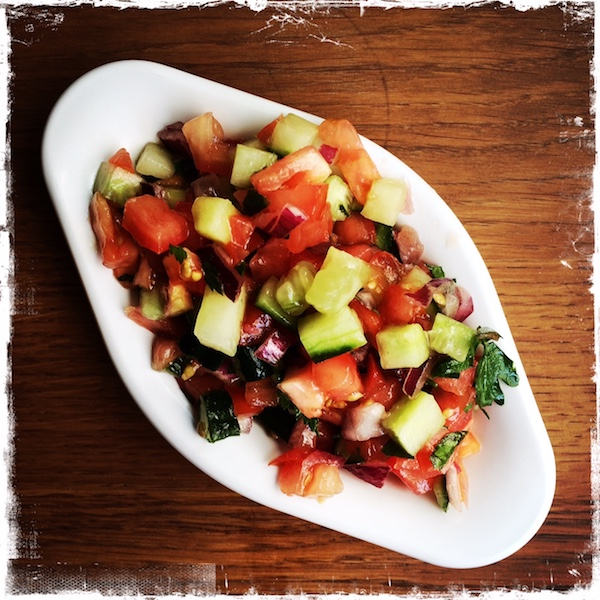 Petite salade israélienne Chiche Paris