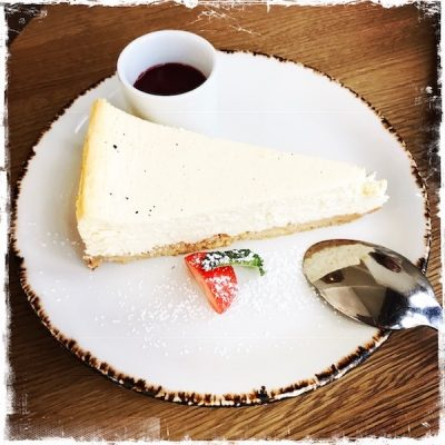 Cheesecake végane chez Nelson's Paris