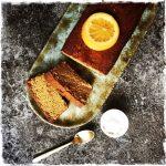Cake amande pois chiche orange végane