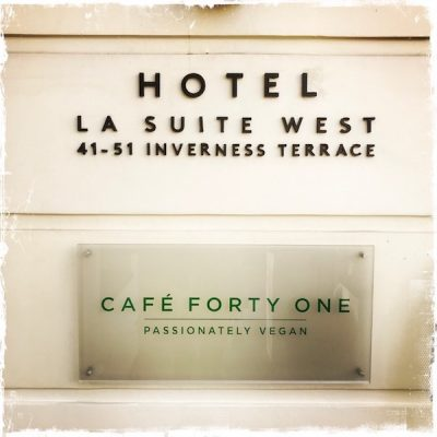 Café Forty One végane à Londres