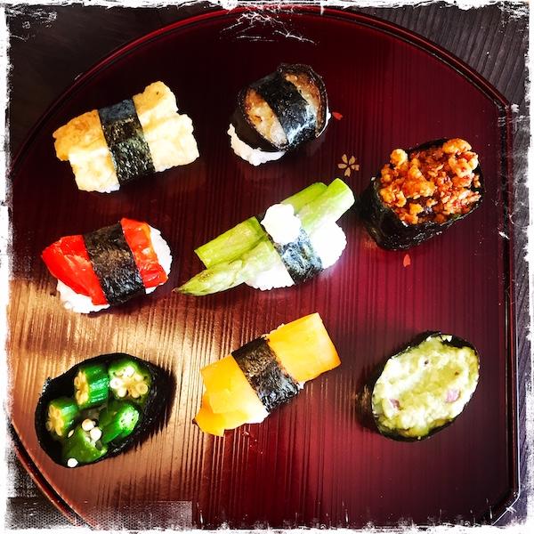 Sushis vegan Itadakizen Paris