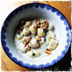 Gnocchis sauce Alfredo aux noix