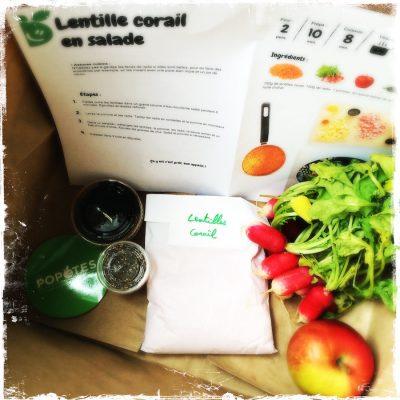 Lentilles corail en salade