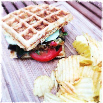 """Burger veggie """"comme une gaufre"""""""