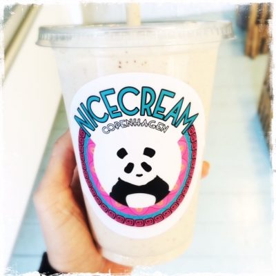 Milkshake vegan au Chaï Latte chez Nicecream Copenhague