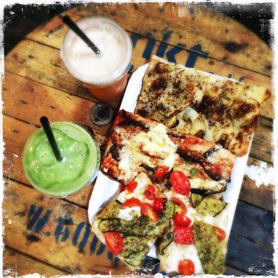 Pizzas vegan Madenitaly au Street Food Market de Copenhague