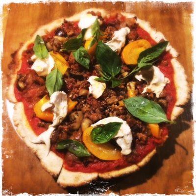 Pizza végane chez Mesa Verde