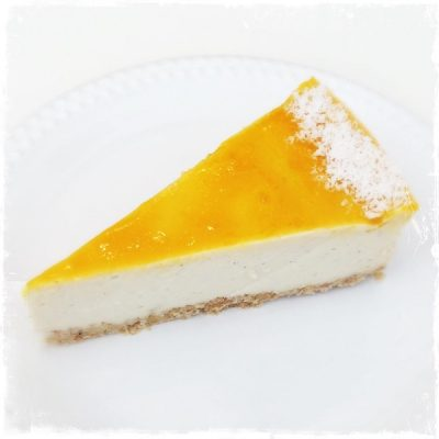 Cheesecake mangue-passion végane Comptoir Veggie