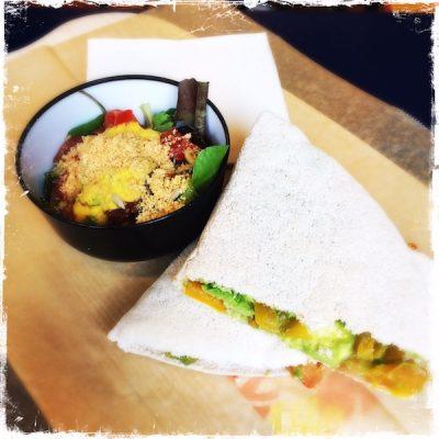 Tapioca végane Oyà et salade à la farofa