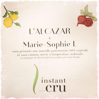 L'instant cru et végane de Marie-Sophie L. à l'Alcazar