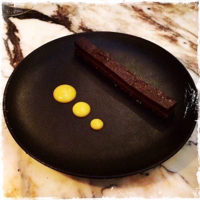 Fondant au chocolat de L'instant cru et végane de Marie-Sophie L. à l'Alcazar