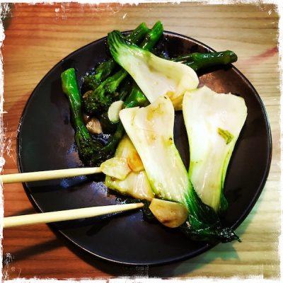 Wok-fried greens véganes chez Wagamama Paris