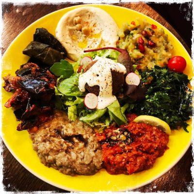 Assiette veggie au Daily Syrien Veggie