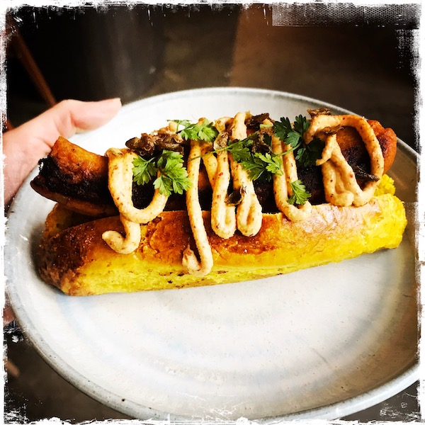 Hot-dog végane Le Citizen Hôtel Paris