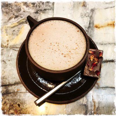 Chocolat chaud vegan Mesa au Hoy Hôtel